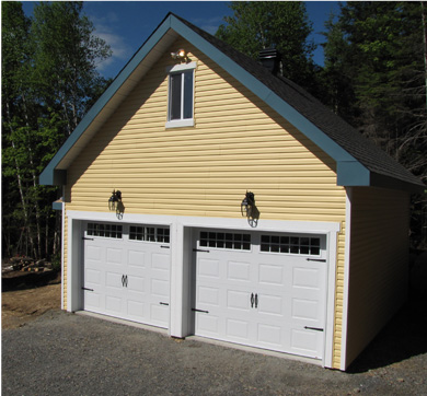 Porte de garage noire maison design for Porte garage maison